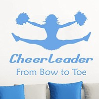 Wall Decals Quotes Vinyl Sticker Decal Quote Cheerleader From Bow To Toe Phrase Home Decor Bedroom Art Design Interior C286