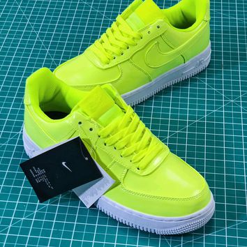 Nike Air Force 1 Low Af1 07 Lv8 Patent Leather Pack Green Aj9505 700 Sport Shoes Sneakers Sale