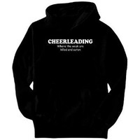 Cheerleading WHERE THE WEAK ARE KILLED AND EATEN Sports Mens Hoodie (Black, Sizes X-Small - XXX-Large)
