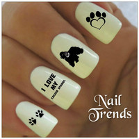 Cocker Spaniel Nail Decal. 20 Vinyl Stickers Nail Art