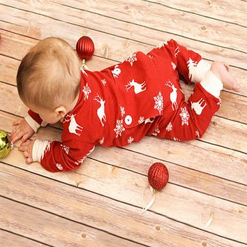 Fashion Baby Romper Infant Newborn Bebes Boy Girl Clothes Autumn Winter Long Sleeve Christmas Jumpsuit