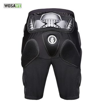 WOSAWE 2018 Motorcycle Armor Protective Hip Skateboarding Shorts Motorcross Skating Extreme Sport Hip Pad Protection  Shorts