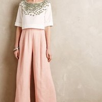 Soren Wide-Leg Trousers by Champagne & Strawberry Pink