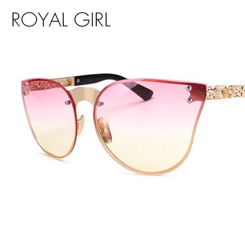 ROYAL GIRL Unique 2017 Women Sunglasses Rimless Cat Eye Oversize Vintage Eyeglasses Frames ss031