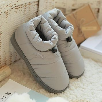 Women Cotton Ankle Boots 2017 Winter Snow Boots Waterproof Slip-resistant Fashion Winter Warm Cotton Shoes Woman Botas Mujer
