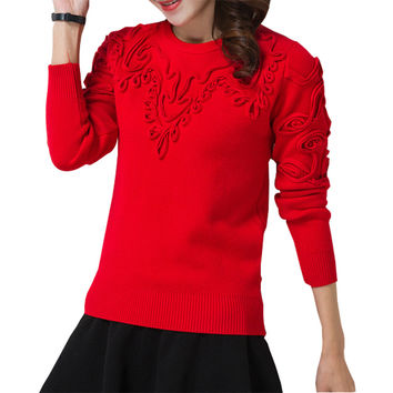 Women's Creative Knitted Pullover Sweater Jumper