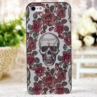 Painted Skull iphone4 4S phone shell garland