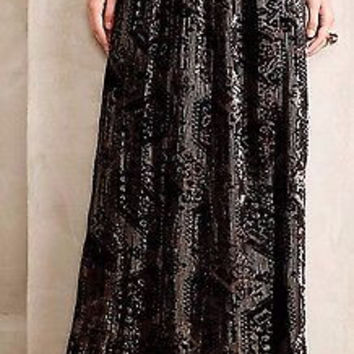 Anthropologie $198 Rhiannon Velvet Burnout Skirt Sz 0 - By HD in Paris - NWT