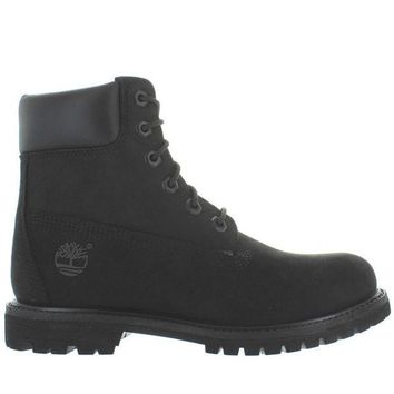 Timberland Earthkeepers 6' Premium   Black Nubuck Classic Lace Up Boot