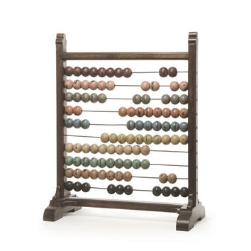 """Eclipse Home Collection Vintage Abacus 12"""" L  x 23"""" W  x 28.75"""" H"""