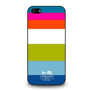 COACH NEW YORK STRIPE iPhone 5 / 5S / SE Case Cover