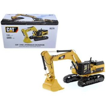 CAT Caterpillar 374D L Hydraulic Excavator with operator High Line Series 1/50 Diecast Model by Diecast Masters