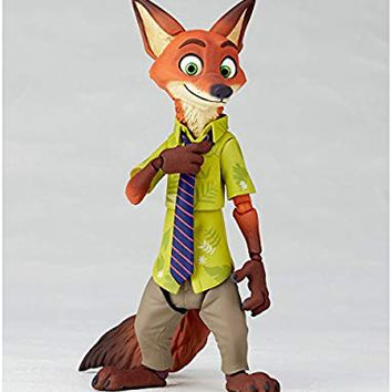 Figure complex Movie Ribo Nick Wilde Nick Wild Height About 130 mm ABS & PVC Painted Movable Figure Revoltech