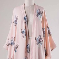 Blush Floral Bull Head Kimono (final sale)