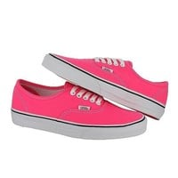VANS CLASSIC AUTHENTIC SUPER NEON HOT PINK WHITE WOMENS US SIZE 10.5, MENS 9