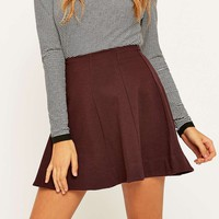 Kimchi Blue Flirt With Me Burgundy Skirt - Urban Outfitters
