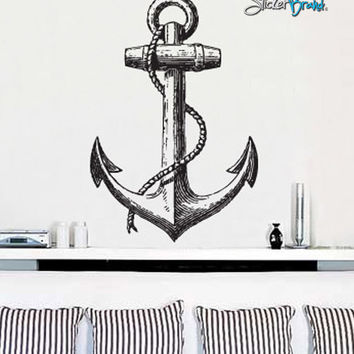Vinyl Wall Decal Sticker Antique Ship Anchor  #541