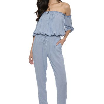 Sunday Stevens Pin Stripe Jumpsuit
