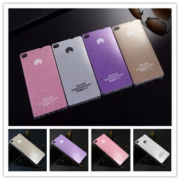 For Huawei Ascend P8 / P8 Lite Case Luxury Ultra Thin Flash Soft TPU Back Cover Bling Crystal Shinning Capa Case Phone Shell