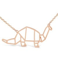 Dinosaur Origami Necklace