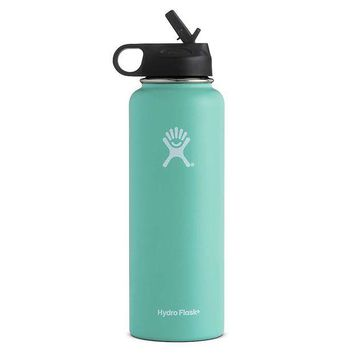 DCCKJG9 Hydro Flask 40oz Wide Mouth Insulated Bottle with Straw Lid