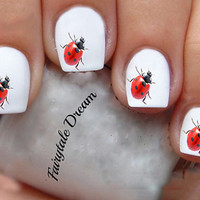 1144 Lady Bug  20 Water Slide Nail Art Transfer Decals stickers