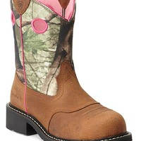 Ariat Fatbaby Camo Cowgirl Boots - Steel Toe - Sheplers