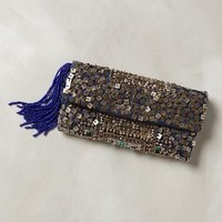 Hedge Maze Beaded Pouch by Jasper & Jeera Silver One Size Clutches
