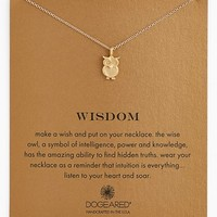 Women's Dogeared 'Reminder - Wisdom' Boxed Owl Pendant Necklace
