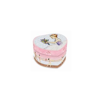 Child's Ballet Heart Musical Jewelry Box