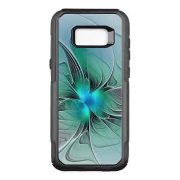 Abstract With Blue, Modern Fractal Art OtterBox Commuter Samsung Galaxy S8+ Case
