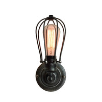 New Retro Wall Lamp Vintage Industrial Cage Light Wall Sconce - hallway wall light- living room wall sconce- rustic wall light