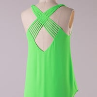 Lime Light Tank -  Lime Green