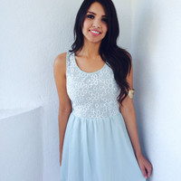 Baby Blue Blossom Dress