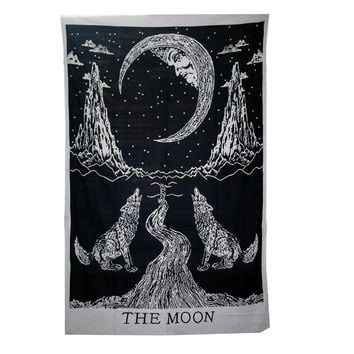 Mandala Tapestry Thin Polyester Hippi Wall Tapestry 200cm The Moon Tapestry Yoga Mat Home Decor Carpet toalla mandalas playa