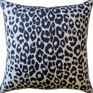 Iconic Leopard Ink Pillow