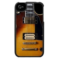 Gibson Les Paul Electric Guitar iPhone 4 Cover from Zazzle.com