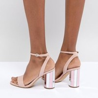 ALDO Two Part Ankle Strap Going Out Show with Mirror Heel at asos.com