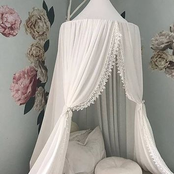 Nordic Princess Bed Canopy, Kids Play Tent, Fairy House for Kids Room