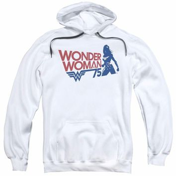 Wonder Woman 75th Anniversary Silhouette Licensed Adult Pullover Hoodie