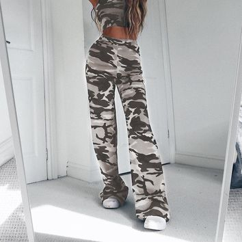 Camo you not Flare Bottoms