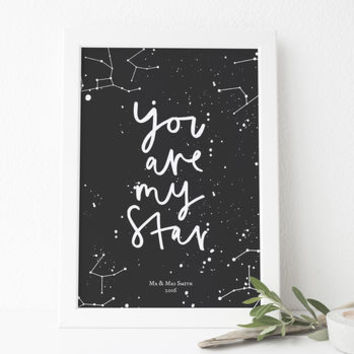 My Star Personalised Constellation Print