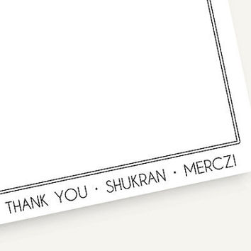 Thank you cards  multi language  10 Flat by TheStationerySisters