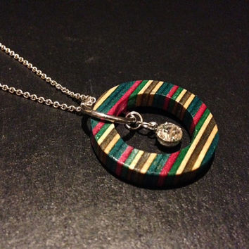 Recycled Skateboard Necklace