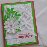 Handmade Mother's Day Card, Mom's Day Card, Happy Mother's Day Card, Stampin Up Mother's Day