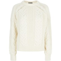 Maje Maxime Cable Knit Jumper | Harrods.com