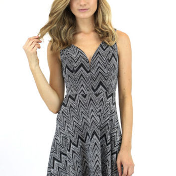 Giselle Glitter Zigzag Dress