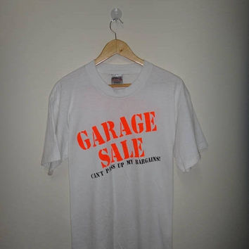 On Sale 25% Off Rare Vintage GARAGE Sale Cant Pass up My Bargains! 50/50 T Shirt Onieta