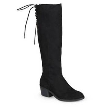 Women's Journee Collection Roz Faux Suede Round Toe Boots : Target