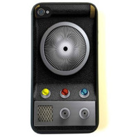 iPhone 4 Case - Silicone Case Protective iPhone 4/4s Case- Star Trek Communicator